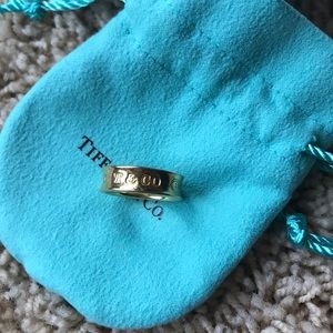 Tiffany and Co. 1837 gold band